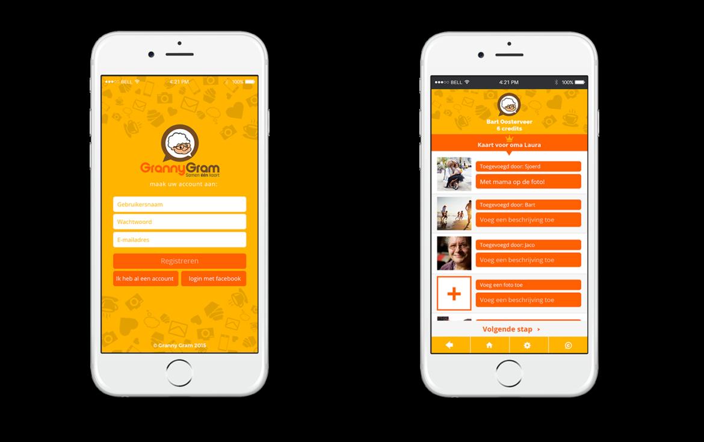 GrannyGram - mobile app screen 1