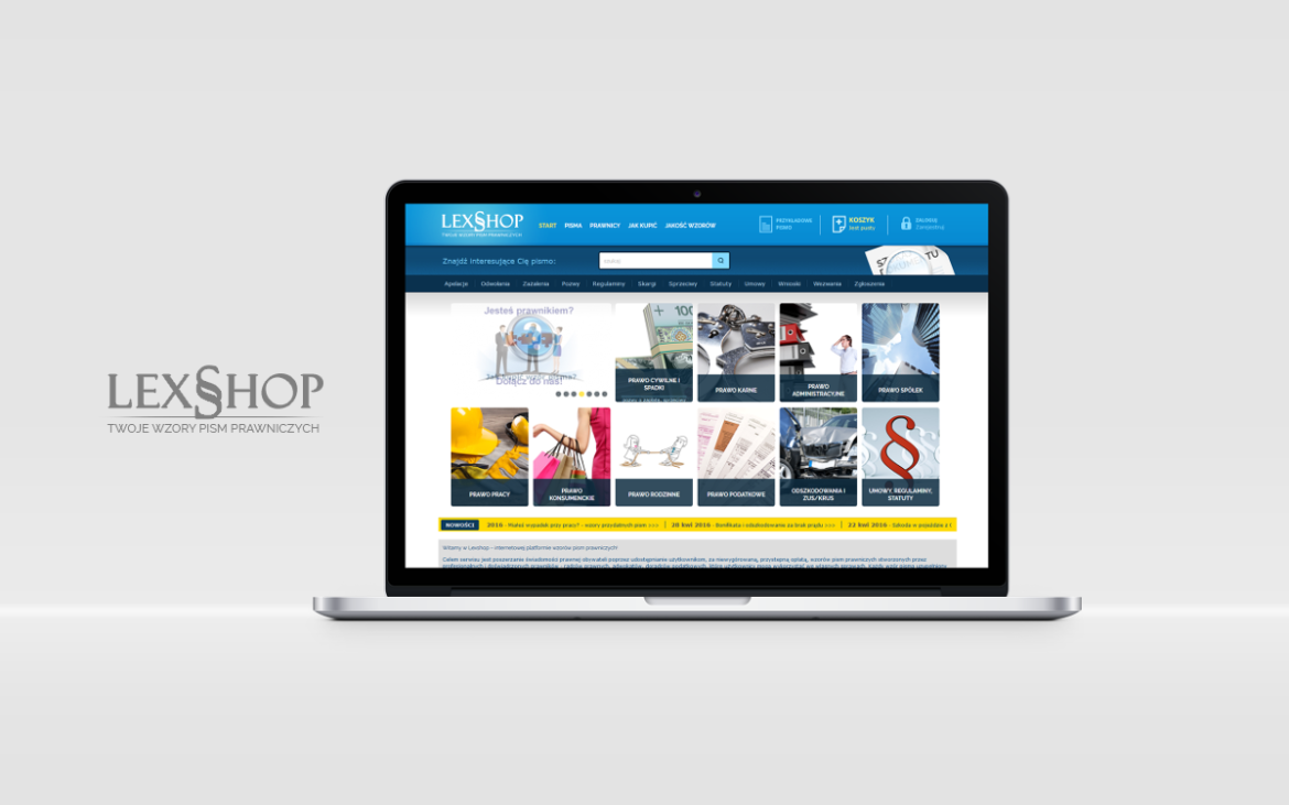 LexShop - e-commerce store