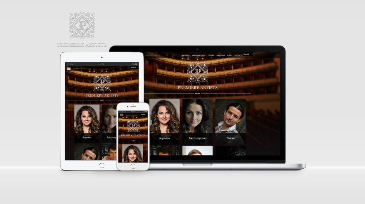 Premiere Artists - responsive Wordpress